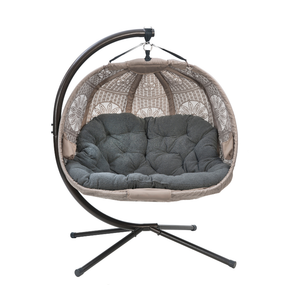 FlowerHouse Dreamcatcher Pumpkin Hanging Loveseat W/ Stand - Senior.com Hanging Chairs
