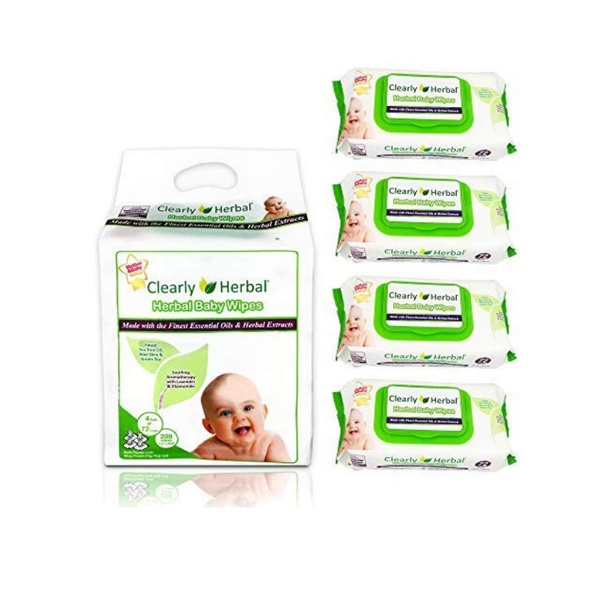 Clearly Herbal All Natural Gentle Baby Wipes - Senior.com Baby Wipes