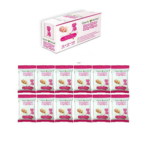 Clearly Herbal All Natural Rose Water Baby Wipes - Senior.com Baby Wipes