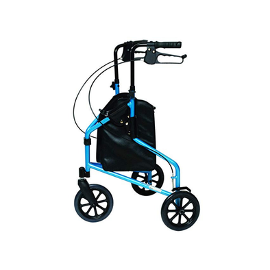 Lumex 3-Wheel Cruiser Folding Rollators with Storage Pouch - Senior.com Rollators