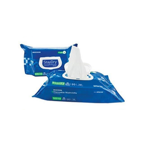 Mckesson StayDry Disposable Washcloths with Aloe - Senior.com Cleansing Wipes