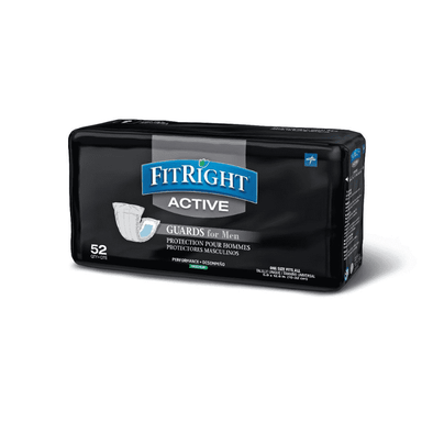 FitRight Active Male Incontinence Guards - Maximum Absorbency  Case of 208