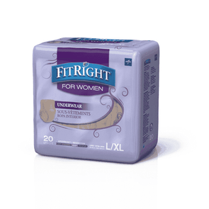FitRight Ultra Absorbency Underwear for Women - Case of 80