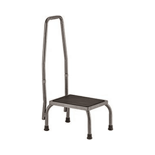 Nova Medical Step Stool with Hand Rail & Skid Resistant Rubber Tips - Senior.com Step Stools