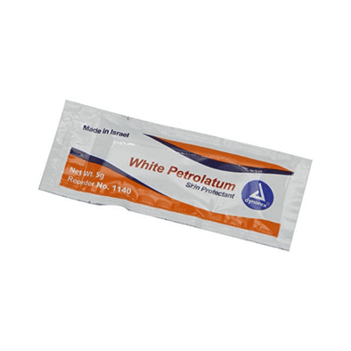 Dynarex White Petrolatum Jelly Skin Protectants - 5 Gram Packets - Senior.com Skin Protection