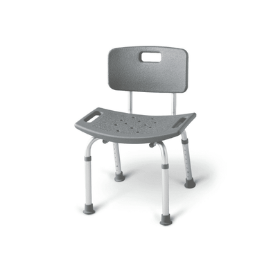 Medline Aluminum Lightweight Bath Benches with Nonslip Suction Cup Tips