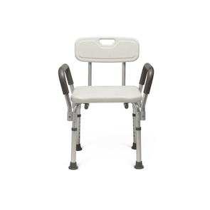 Medline Lightweight Tool-Free Knockdown Bath Benches with Padded Arms