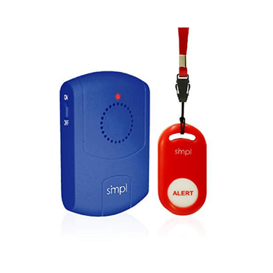 SMPL SOS Help Pendant Alert Kit - Includes SOS/Help Pendant and Pager - Senior.com Alerts & Patient Aids