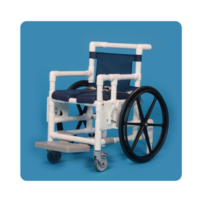 IPU Shower Access Transport Wheelchair with Anti-Tip Design & Footrest - Senior.com PVC Shower Chairs