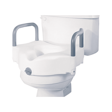 "Medline Guardian Locking 5"" Toilet Seat Riser with Arms - Senior.com Raised Toilet Seats"