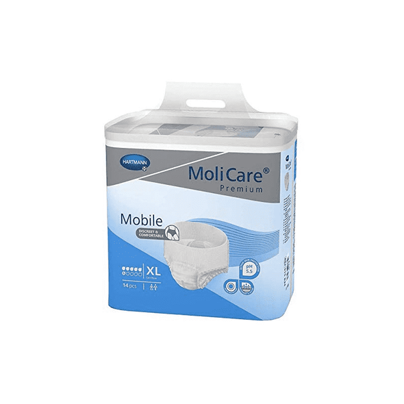MoliCare Premium Mobile Adult Unisex Underwear - Moderate Absorbency Case of 56 - Senior.com Incontinence