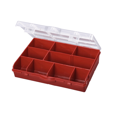 Stack-On 10 Compartment Storage Organizer Box with Removable Dividers