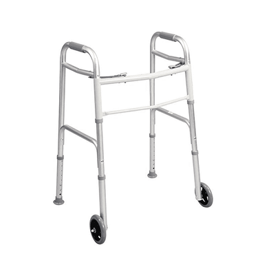"Carex Ergonomic Folding Paddle Walker with 5"" Wheels A84790"