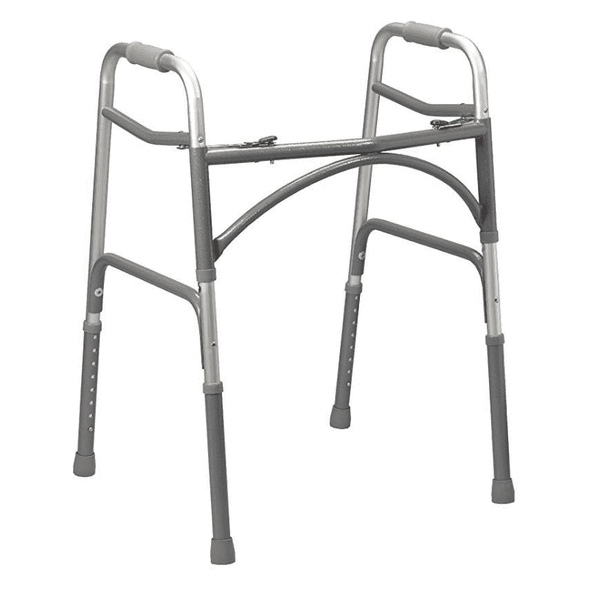 Drive Medical Heavy Duty Push Button Bariatric Walker - Senior.com walkers