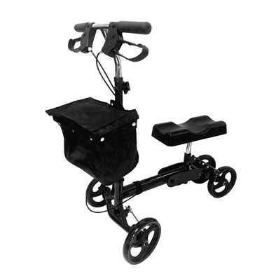 MOBB Healthcare Folding Knee Walker with Front & Rear Brakes - Senior.com walkers
