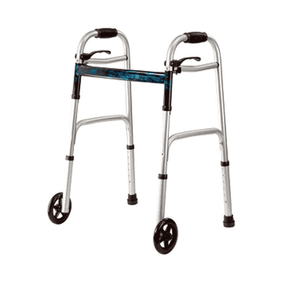 MOBB Healthcare Aluminum Lightweight Folding Paddle Walker - Senior.com walkers