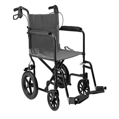 "MOBB Healthcare Lightweight Folding Transport Chair with 12"" Rear Wheels - Senior.com Wheelchairs"