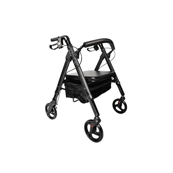 MOBB Healthcare Heavy Duty Bariatric Folding Rollator with Backrest