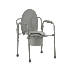 MOBB Healthcare Folding 3-In-1 Commode with Bucket & Lid - Senior.com Commodes