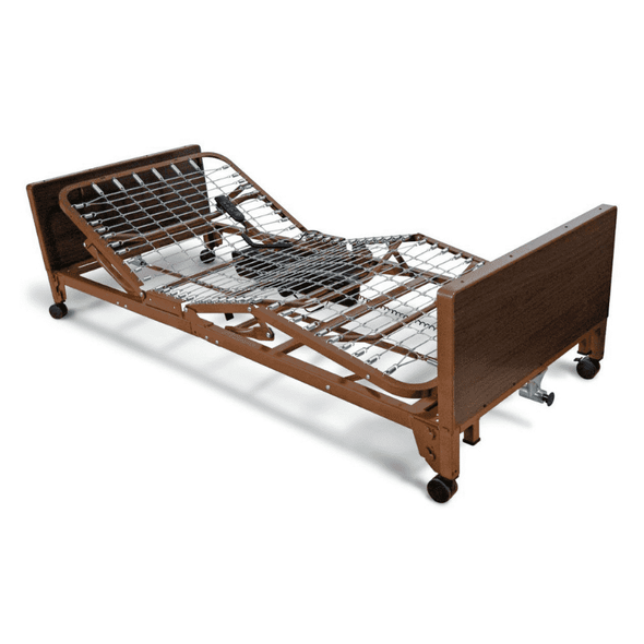 Medline Basic Low Full-Electric Light Bed Frame Only - Senior.com Bed Packages