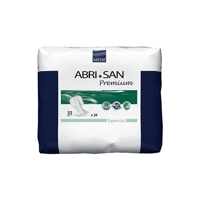 Abena Abri-San Special Pad for Fecal and Urinary Incontinence - Case of 112 - Senior.com Incontinence