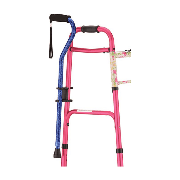 Nova Medical Cane Holder for Rollators and Folding Walkers - Senior.com cane parts and accessories