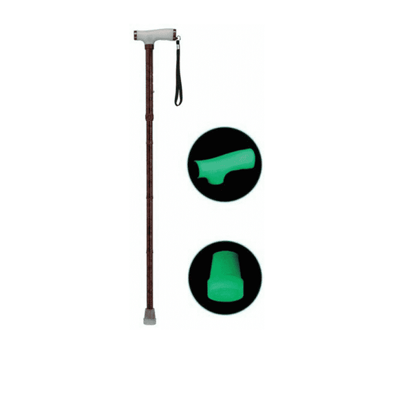 Drive Medical Folding Canes with Glow Grip Handle and Cane Tip