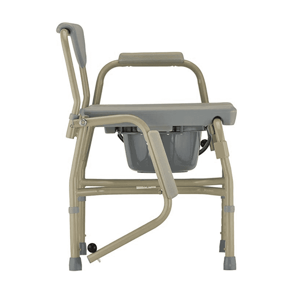NOVA Medical Heavy Duty Commode with Drop-Arm - Grey - Senior.com Commodes
