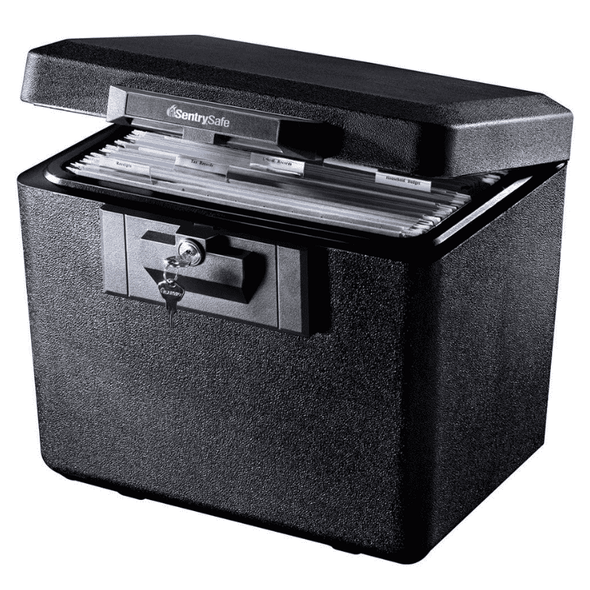 SentrySafe Fireproof Document Box with Key Lock - 0.61 Cubic Feet 1170