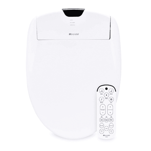 Brondell Swash 1400 Luxury Bidet Toilet Seat with Dual Stainless-Steel Nozzles and Nanotechnology Nozzle Sterilization, Endless Warm Water, Warm Air Dryer & Nightlight