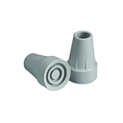 Carex Standard Crutch Tips - Gray - Fits most crutches - Senior.com Crutch Tips & Accessories
