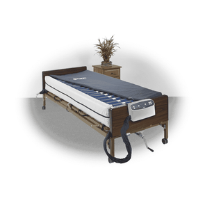 Drive Medical Med Aire Plus Defined Perimeter Low Air Loss Mattress Replacement System with Low Pressure Alarm 8