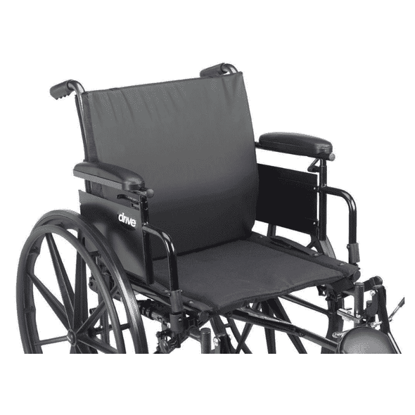 Drive Medical General Use Extreme Comfort Wheelchair Back Cushion with Lumbar Support