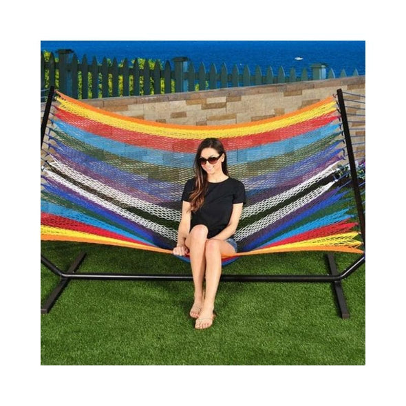 Bliss Multicolor Cotton Rope Hammock