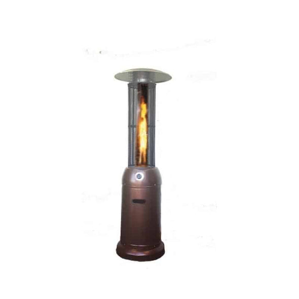 SUNHEAT Decorative Flame Round Propane Patio Heater - Senior.com Heaters & Fireplaces