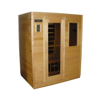 SUNHEAT Industry leading 3 Person Carbon Fiber Infrared Sauna - Senior.com Saunas