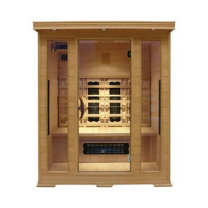 SUNHEAT Contemporary 3 Person Carbon Fiber Far-Infrared Sauna - Senior.com Saunas