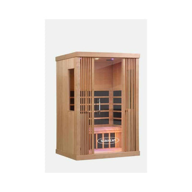 SUNHEAT Contemporary 2 Person Carbon Fiber Far-Infrared Cedar Sauna - Senior.com Saunas