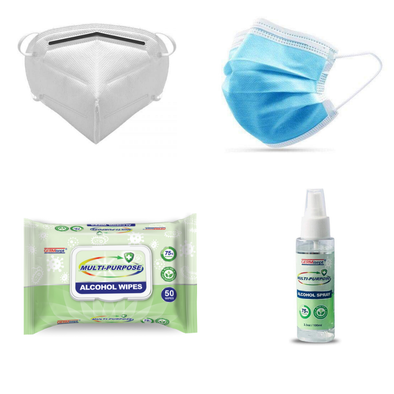 PPE Travel and Shopping Kit I - KN95 Masks, Hand Sanitizer, Alcohol Wipes & Dust Masks - Senior.com PPE Kits