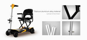 Karman Healthcare Volare Foldable Travel Power Scooter - Remote Controlled Fold and Unfold - Senior.com Scooters
