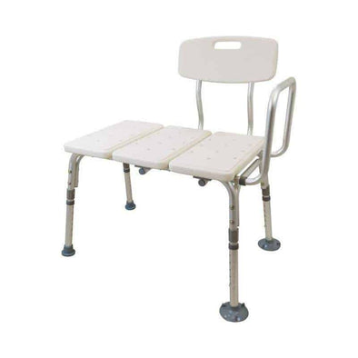 Viverity Adjustable Transfer Bench with Suction Feet - Senior.com Transfer Equipment