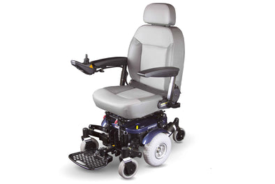 Shoprider XLR Plus Center-Wheel Drive Mid Size Power Chair - Blue - Senior.com Power Chairs