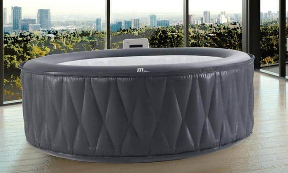 MSPA Premium Mont Blanc Relaxation and Hydrotherapy 118 Air Jet Bubble Spas Epi-Leather Style Round with X Beam Supreme Support - Senior.com Hot Tubs & Jacuzzis
