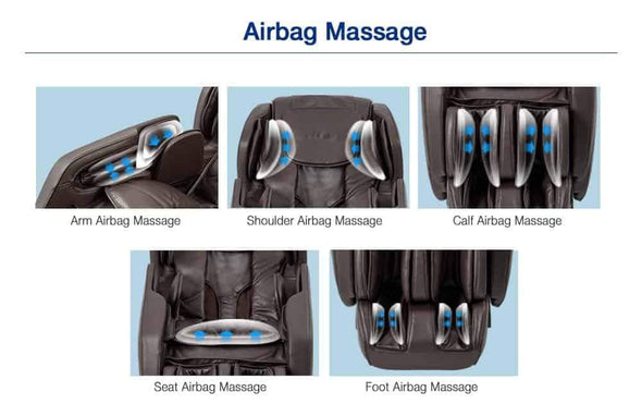 Titan Carina Space Saving Full Body Massage Chairs with Zero Gravity Recline & Airbag Massaging - Senior.com Massage Chairs