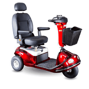 Shoprider Enduro XL3Plus Deluxe Heavy Duty Scooter 3 Wheel – Burgundy - Senior.com Scooters