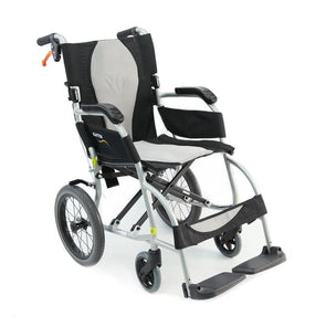 "Karman Healthcare Ergolite Ultra Lightweight Transport Chair with Large 14"" Rear Wheels - Senior.com Transport Chairs"