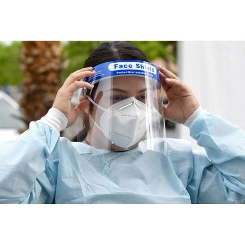 Clear Anti-Fog Reusable Face Shield with Adjustable Headband - Box of 10 - Senior.com Face Shields