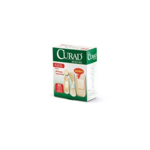 CURAD Plastic Adhesive Bandages-assorted box of 80