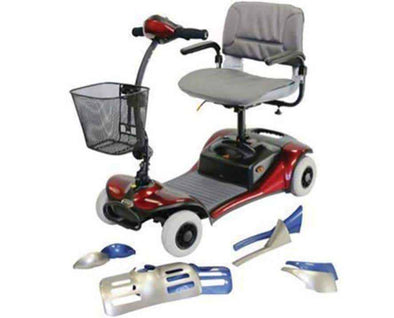 Shoprider Dasher Color Interchangeable Personal Travel Scooter & Swivel Seat - Senior.com Scooters