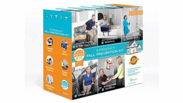 Stander 5 Piece Fall Prevention Kit - All In One Home Modification Kit - Senior.com Grab Bars & Safety Rails